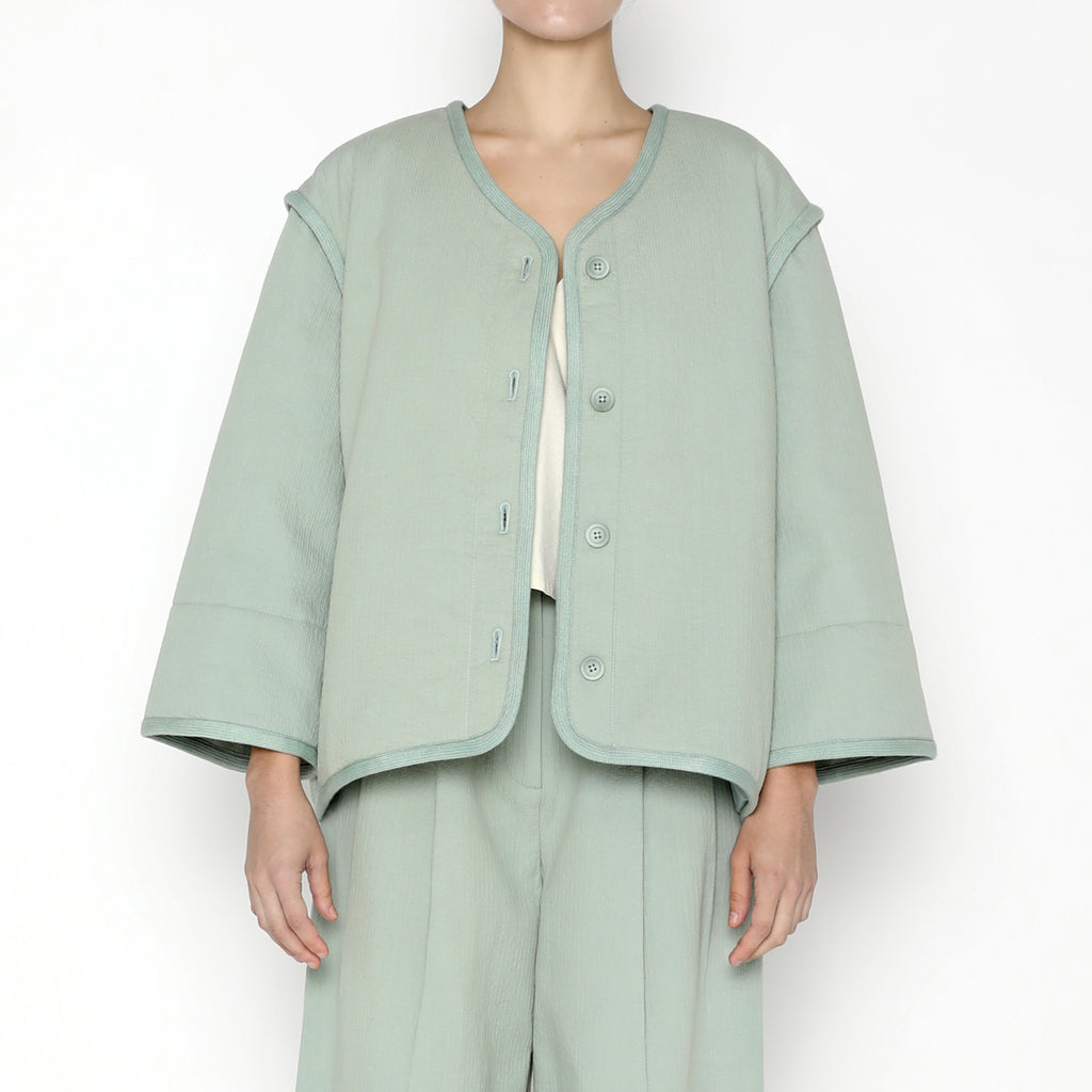 Spring Quilted Jacket SS20 - Aqua