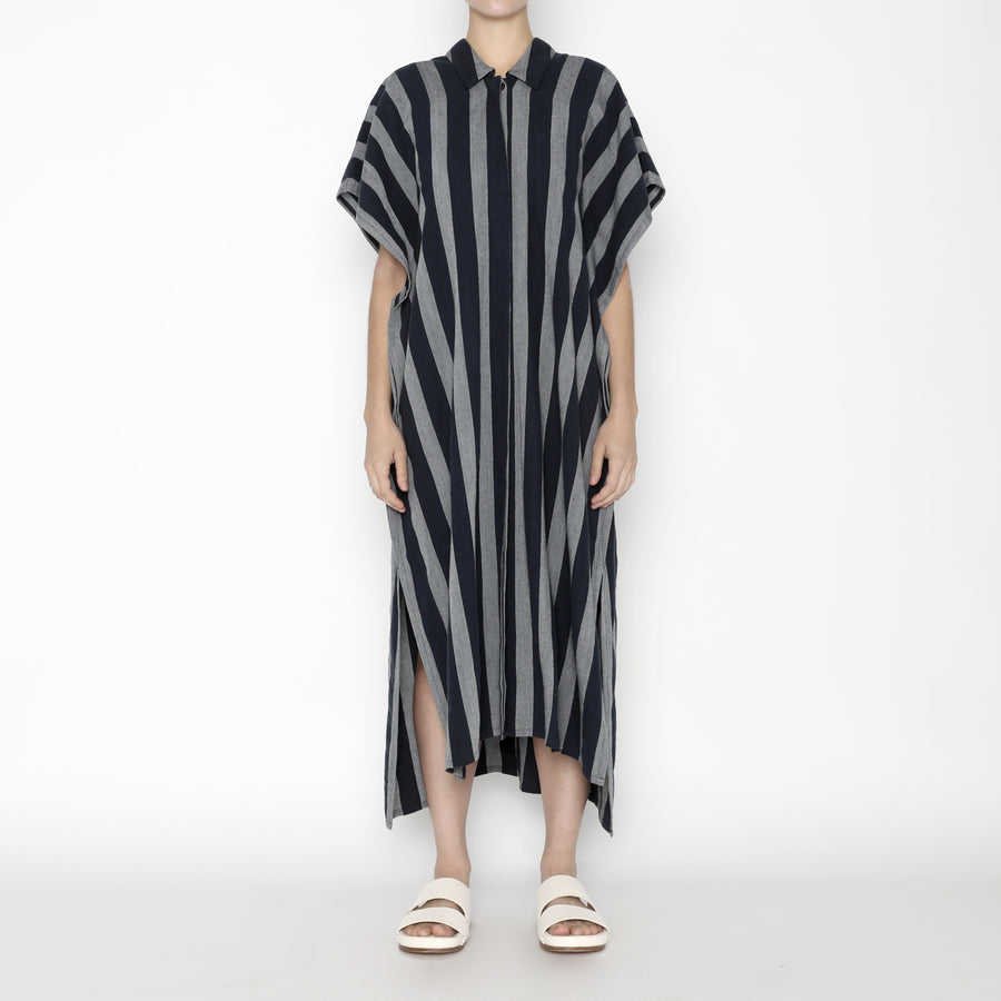 Striped Swing Shirtdress SS20 - Dark Stripe