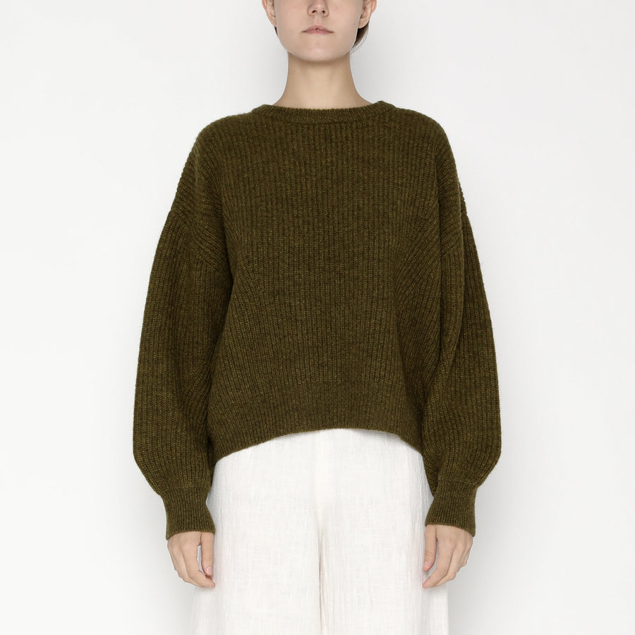 Poet Sleeves Ribbed Sweater - Yak