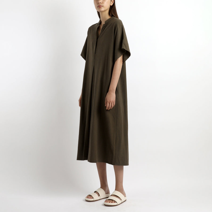 Mandarin Dress - SS21 - Olive