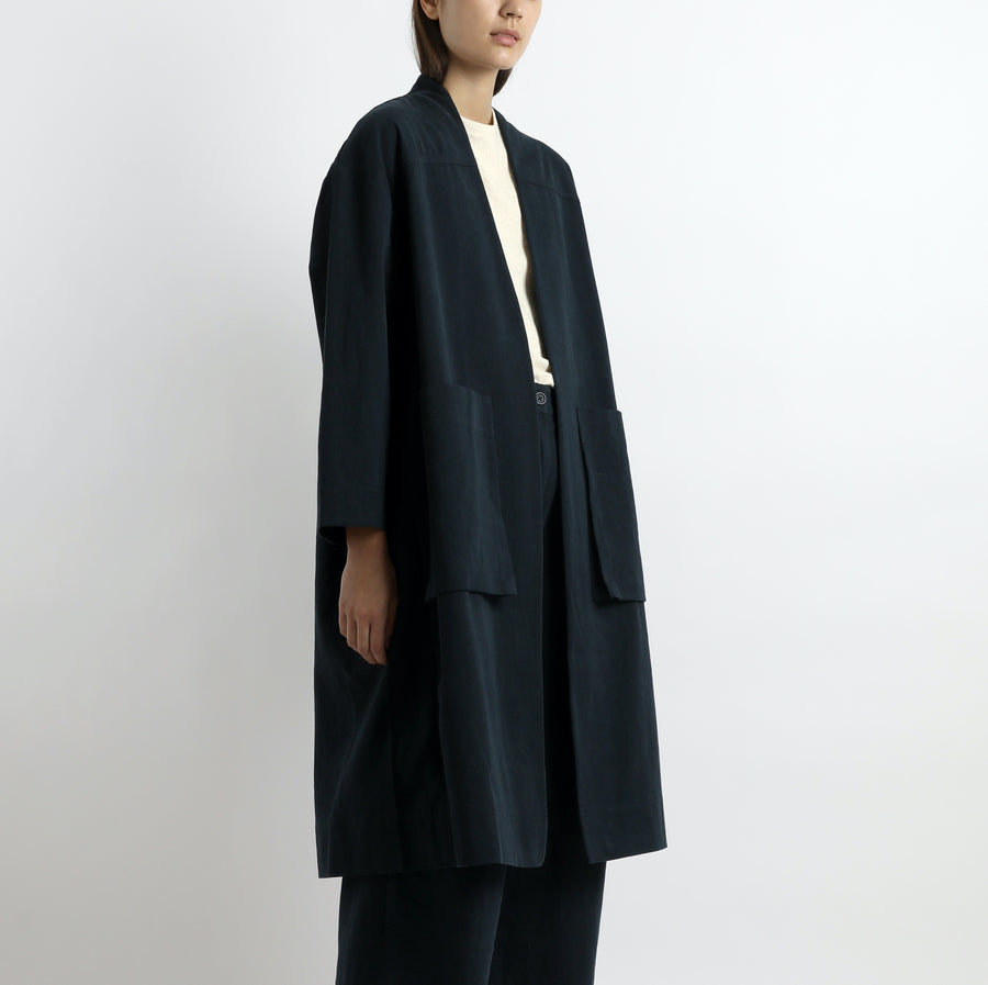 Pockets Long Coat - Unisex - SS21 - Navy