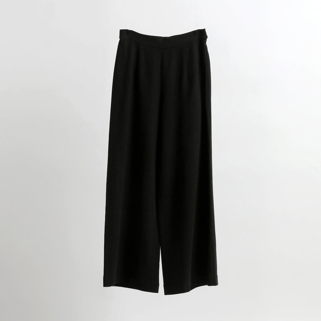 Signature Wide-Legged Trouser - Black