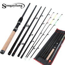 Load image into Gallery viewer, Sougayilang 3m Feeder Rod L M H Power Fishing Rod Ultralight Weight 6 Section Carbon Spinning Travel Rod Fishing Tackle De Pesca