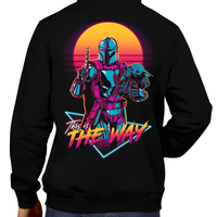 This unisex hoodie rocks. Black Hoodie For Men or Women. Sizes S to 5X - Read my lips , mercy is for wimps. Hoody, Winter. Rock, Movie, Film, Sci-Fi, Yoda, Baby Yoda, Bounty Hunter, TV Show, Mandalorian, Warrior, Boba Fett, Disney, Darth Vader, Princess Leia, Blaster, Episode, 6, 7, 8, 9, This is the way, Retro 80s, The Child.
