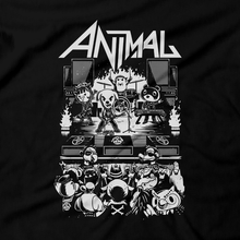 Load image into Gallery viewer, Heavy Metal Tees by Draculabyte l Made from 100% cotton, this unisex t-shirt rocks. Black T-shirt in sizes from small to 6X. Metalheads, , Dog, KK Slider, Slayer, Smash Bros, Graphic Art, Game Boy, 3DS, Animal Forest, New Horizons, Isabelle, Tom Nook, Animals, Gulliver, Dodo Airlines, Animal Crossing, Nintendo Switch, Daisy Mae