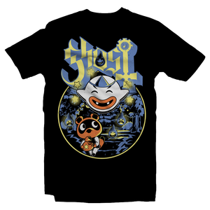 Heavy Metal Tees by Draculabyte l Made from 100% cotton, this unisex t-shirt rocks. Black T-shirt in sizes from small to 6X. Metalheads, King Boo, Ghost, Haunted, Wisp, Shirt, Animal Crossing, Isabelle, KK Slider, Slayer, Nintendo Switch, Tom Nook, Slipknook, Bell, Funny, Cute, Island, Pay, Fee, Doldo Airlines, Blathers, Raymond, Fest, Clothes, Shop, Store