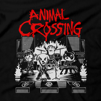 Heavy Metal Tees by Draculabyte l Made from 100% cotton, this unisex t-shirt rocks. Black T-shirt in sizes from small to 6X. Metalheads, , Dog, KK Slider, Slayer, Smash Bros, Graphic Art, Game Boy, 3DS, New Horizons, Isabelle, Tom Nook, Animals, Dodo Airlines, Animal Crossing, Nintendo Switch, Daisy Mae, Alice Cooper