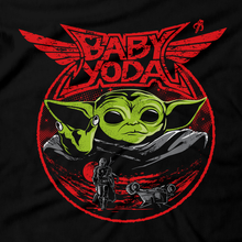 Load image into Gallery viewer, This unisex hoodie rocks. Black Hoodie For Men or Women. Sizes S to 5X - Metalheads, Graphic Art, Rock, Movie, Film, Sci-Fi, Yoda, Baby Yoda, Bounty Hunter, TV Show, Jedi, The Force, Cool, Mandalorian, Warrior, Boba Fett, Baby Metal, Japan, Girls, ROTJ, ANH, Disney, Darth Vader, Han Solo, Cute, Princess Leia