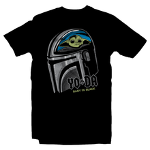 Load image into Gallery viewer, Heavy Metal Tees by Draculabyte l Made from 100% cotton, this unisex t-shirt rocks. Black T-shirt in sizes from small to 6X. Metalheads, Graphic Art, Rock, Movie, Film, Sci-Fi, Yoda, Baby Yoda, Bounty Hunter, TV Show, Jedi, The Force, Cool, Mandalorian, Warrior, Boba Fett, Return of the Jedi, ROTJ, ANH, Disney, Darth Vader, Han Solo, Cute, Princess Leia