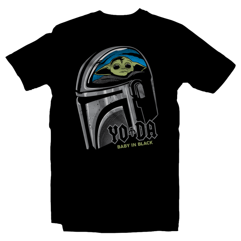 Heavy Metal Tees by Draculabyte l Made from 100% cotton, this unisex t-shirt rocks. Black T-shirt in sizes from small to 6X. Metalheads, Graphic Art, Rock, Movie, Film, Sci-Fi, Yoda, Baby Yoda, Bounty Hunter, TV Show, Jedi, The Force, Cool, Mandalorian, Warrior, Boba Fett, Return of the Jedi, ROTJ, ANH, Disney, Darth Vader, Han Solo, Cute, Princess Leia