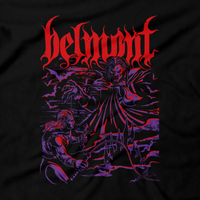 Heavy Metal Tees by Draculabyte l Made from 100% cotton, this unisex t-shirt rocks. Black T-shirt in sizes from small to 6X. Metal, Metalheads, Gamer, Pixel, 8-Bit, 1980s, Castlevania, Simon Belmont, Vampire Killer, Dracula's Curse, SOTN, Behemoth, Skull, Symphony of the Night, Slayer, Vampire Hunter, Graphic Art, Nes, Nintendo