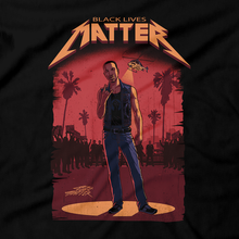 "Load image into Gallery viewer, Heavy Metal Tees by Draculabyte l Made from 100% cotton, this unisex t-shirt rocks. Black T-shirt in sizes from small to 6X. Metalheads, Graphic Art, Black Lives Matter, Social Justice, No Justice, No Peace, GTA, Grand Theft Auto, CJ, GTA San Andreas, Los Santos, Grove Street Families, Carl ""CJ"" Johnson, Rockstar, PS2, Playstation, Xbox 360, PS4, PS5, PC"