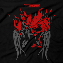 Load image into Gallery viewer, Heavy Metal Tees by Draculabyte l Made from 100% cotton, this unisex t-shirt rocks. Unisex Mens and Womens Size Chart. Small to 6X Tee, Shirt, Video game shirt inspired by Metal, Cyberpunk 2077, Metalheads, Sci-Fi, Science Fiction, 80s, Retro Wave, Robot, Machine, Logo, Keanu Reeves, Mashup, Movie, Hunter, AVP, Dutch, Villain, Space Alien, Predator, Arnold Schwarzenegger, Art