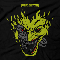 Heavy Metal Tees by Draculabyte l Made from 100% cotton, this unisex t-shirt rocks. Unisex Mens and Womens Size Chart. Small to 6X Tee, Shirt, Video game shirt inspired by Metal, Cyberpunk 2077, Metalheads, Sci-Fi, Science Fiction, 80s, Retro Wave, Robot, Machine, Logo, Keanu Reeves, Mashup, Joker, Batman, Clown, Villain, Gotham City