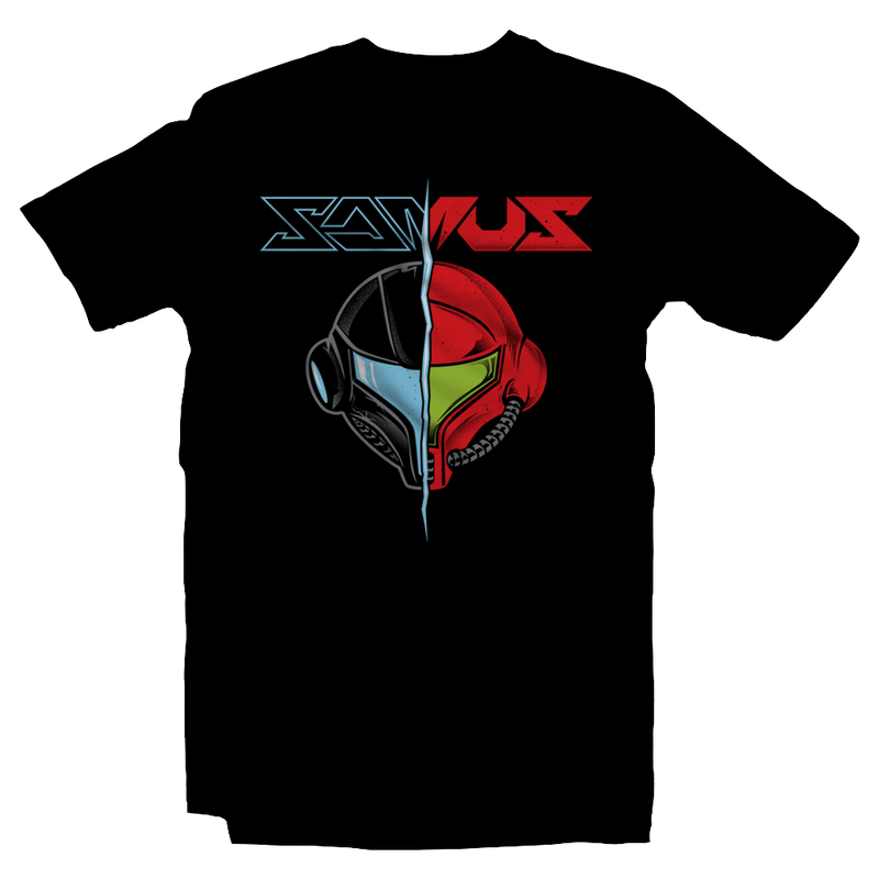 Heavy Metal Tees by Draculabyte l Made from 100% cotton, this unisex t-shirt rocks. Black T-shirt in sizes from small to 6X. Metalheads, Metroid, Samus Aran, Sci-Fi, Science Fiction, SNES, NES, Hunter, Mother Brain, Kraid, Zebes, Prime, Alien, Ridley, Retro Gamer, Graphic Art, Super Nintendo, Dark Samus, Smash Bros Ultimate, Melee, Brawl