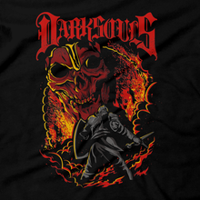 Load image into Gallery viewer, Heavy Metal Tees by Draculabyte l Made from 100% cotton, this unisex t-shirt rocks. Black T-shirt in sizes from small to 6X. Metalheads, Dark Souls, Praise the Sun, Bloodborne, Demon Souls, Action, Bonfire, Retro Gamer, Graphic Art