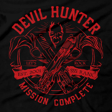 Load image into Gallery viewer, Heavy Metal Tees by Draculabyte l Made from 100% cotton, this unisex t-shirt rocks. Black T-shirt in sizes from small to 6X. Metalheads, Hunter, Dante, DMC, Devil May Cry, PS2, Playstation 2, Vergil, Nero Rock, 90s, Retro Gamer, Graphic Art