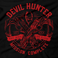 Heavy Metal Tees by Draculabyte l Made from 100% cotton, this unisex t-shirt rocks. Black T-shirt in sizes from small to 6X. Metalheads, Hunter, Dante, DMC, Devil May Cry, PS2, Playstation 2, Vergil, Nero Rock, 90s, Retro Gamer, Graphic Art