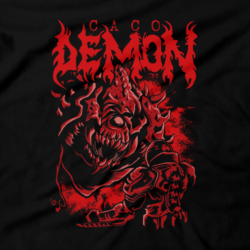 Heavy Metal Tees by Draculabyte l Made from 100% cotton, this unisex t-shirt rocks. Black T-shirt in sizes from small to 6X. Metal, Demon, Hell, Doom, Doomguy, Hellspawn, Art, Clothes, Shirt, Eternal, Nintendo 64, PS4, PC, DOS, 90s, Doom 64, BFG, metallica, John Carmack, Shooter, Rip and Tear, Cacodemon, Cyberdemon, 1993, Slayer, Deicide