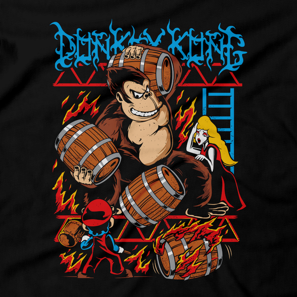 Heavy Metal Tees by Draculabyte l Made from 100% cotton, this unisex t-shirt rocks. Black T-shirt in sizes from small to 6X. Metal, Metal heads, Nes, Nintendo, Pixel, 8-Bit, 1980s, Donkey Kong, DKC, Super Smash Bros, Switch, Clothing, Tee, Super Mario, Arcade, Origional, Classic, Retro Game, King Kong Gamer, Atari, Graphic Art