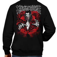 Load image into Gallery viewer, This unisex hoodie rocks. Black Hoodie For Men or Women. Sizes S to 5X - Metal, Metalheads, Gamer, Nes, Nintendo, Pixel, 8-Bit, 1980s, Castlevania, Simon Belmont, Vampire Killer, Dracula's Curse, SOTN, Alucard, Skull, Symphony of the Night, Slayer, Vampire Hunter, Graphic Art
