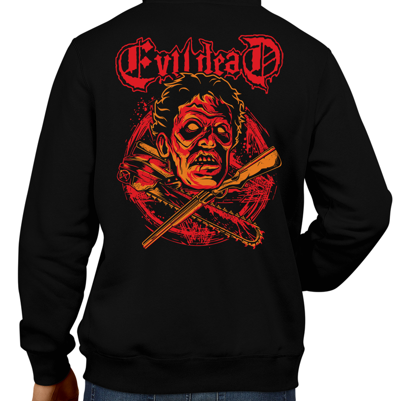 This unisex hoodie rocks. Black Hoodie For Men or Women. Sizes S to 5X - Read my lips , mercy is for wimps. Horror, Movie, Film, Scary, Halloween, Evil, Killer, Murder, Sam Raimi, The Evil Dead, Necronomicon Ex-Mortis, Ash Williams, Bruce Campbell, Army of Darkness, Book of the Dead, Zombies, Deadites, Winter, Hoody, Coat