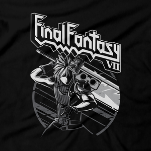 Heavy Metal Tees by Draculabyte l Made from 100% cotton, this unisex t-shirt rocks. Black T-shirt in sizes from small to 6X. Final Fantasy, FF VII, JRPG, Japan, Sephiroth, Videogames, Cloud Strife, Meteor, FF 7, Playstation, Tifa, Shirt, Gamer, PS1, Shop Graphic Art, Best, Vincent, Remake, PS4, PS5, Scorpions, Aerith, Judas Priest