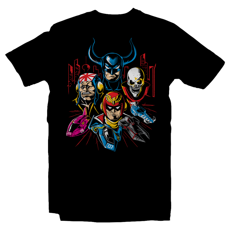 Heavy Metal Tees by Draculabyte l Made from 100% cotton, this unisex t-shirt rocks. Black T-shirt in sizes from small to 6X. Metalheads, N64, Nintendo 64, Racer, Racing, Future, Hover, F-Zero, F-Zero X, Captain Falcon, Skull, Mute City, Big Blue, F-Zero GX, Samurai Goroh, Black Shadow, SNES, Super Nintendo, Gamecube, The Skull, Super Smash Bros, Ultimate