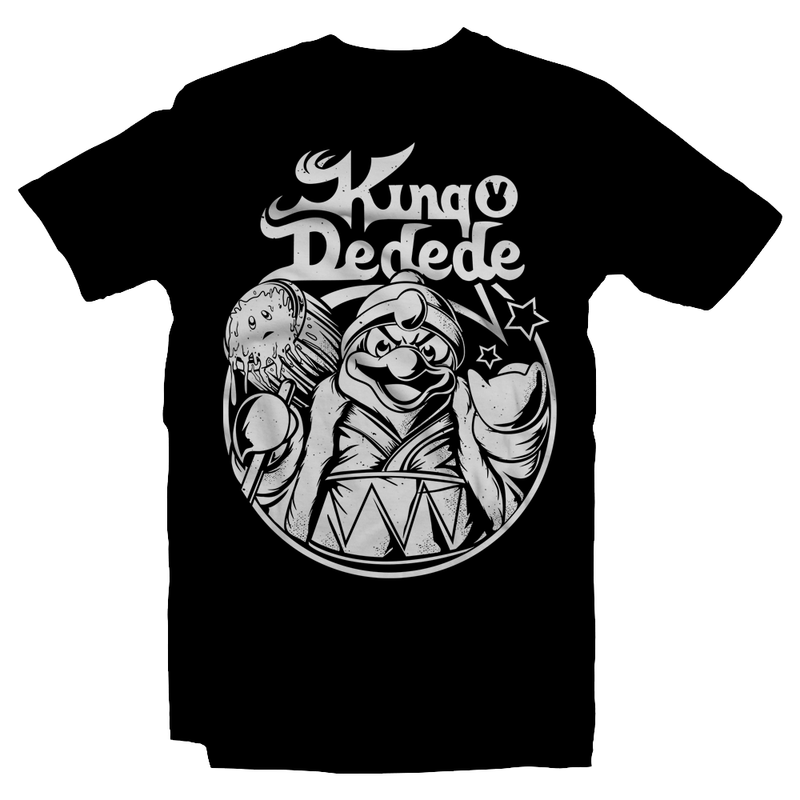 Heavy Metal Tees by Draculabyte l Made from 100% cotton, this unisex t-shirt rocks. Blackshirt in sizes from small to 6X.  Metalheads, Battle in Mirrors, Retro, Video Games, Gamer, N64, Graphic Art, Kirby, Dreamland, Super Smash Bros, N64, Nintendo Switch, SNES, Kirby Star Allies, Super Star, Dark Meta Knight, Nintendo Shirt, King Dedede, King Diamond