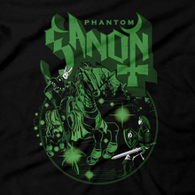 Load image into Gallery viewer, Heavy Metal Tees by Draculabyte l Made from 100% cotton, this unisex t-shirt rocks. Black T-shirt in sizes from small to 6X. The Phantom Ghost, Zelda, Nintendo design. Ocarina of Time, Metalheads, Ganon, Ganondorf, Hyrule, Triforce, Graphic Art.