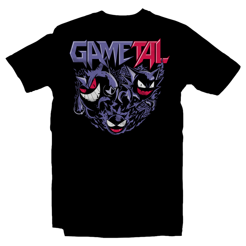 Heavy Metal Tees by Draculabyte l Made from 100% cotton, this unisex t-shirt rocks. Black T-shirt in sizes from small to 6X. GaMetal, Youtube, Video Games, Gamer, Retro Gamer, Retro Gaming, Bard, Guitar, Boo, Super Mario, Kirby, Jonny Atma, Music, Shirt,  Clothes