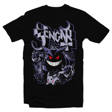 Load image into Gallery viewer, Heavy Metal Tees by Draculabyte l Made from 100% cotton, this unisex t-shirt rocks. Black T-shirt in sizes from small to 6X. Pokemon, Nintendo, Gengar, Poison, Ghost Type, Pikachua, Shadow, Blue, Red, Moon, Retro, Video Games, Gamer, Card, Sun, Game Boy Ghost Band, Papa Emeritus, Nintendo Shirt, Switch, Sword and Shield, Graphic Art.
