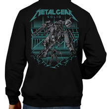 Load image into Gallery viewer, This unisex hoodie rocks. Black Hoodie For Men or Women. Sizes S to 5X - Metalheads, Graphic Art, Video Game, Metal Gear Solid, MGS, Solid Snake, PS1, Playstation, Twin Snakes, Rex, Ninja, Ocelot, Psycho Mantis, Metallica, Battle, VR Missions, Shadow Moses, Big Boss, Liquid, Peace Walker, PS4, PS2, MGS2
