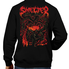Load image into Gallery viewer, This unisex hoodie rocks. Black Hoodie For Men or Women. Sizes S to 5X - Nintendo, Metalheads, Dark Souls 2, Praise The Sun, Bloodborne, Demon Souls, RPG, Action, Bonfire, PS4, Xbox, Solaire, Geek, Japanese, Fire Retro, Heavy Metal, Rock, Art