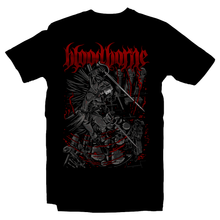 Load image into Gallery viewer, Heavy Metal Tees by Draculabyte l Made from 100% cotton, this unisex t-shirt rocks. Black T-shirt in sizes from small to 6X. Metal, Metalheads, Dark Souls, Praise The Sun, Bloodborne, PS4, Geek, Japanese, Boss, Solaire of Astora, Lady Maria, Old Hunter, Astral Clock Tower, Gothic, Victorian, Yharnam, Graphic Art, Behemoth Band