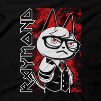 Heavy Metal Tees by Draculabyte l Made from 100% cotton, this unisex t-shirt rocks. Black T-shirt in sizes from small to 6X. Heavy Metal Tees by Draculabyte - Made from 100% cotton, Metalheads, Cat, Guitar, Retro Gamer, Graphic Art, Nintendo Switch, 3DS, New Horizons, Tom Nook, Iron Maiden, Isabelle, Raymond, Animal Crossing, Bells, Town, Villagers, Store, Kids, Boy, Girl, Music, Animal Crossing, Gothic, Cute