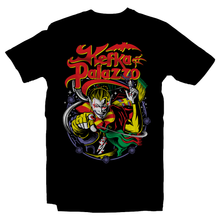 Load image into Gallery viewer, Heavy Metal Tees by Draculabyte l Made from 100% cotton, this unisex t-shirt rocks. Black T-shirt in sizes from small to 6X. Final Fantasy, FF VI, JRPG, Japan, Kefka Palazzo, Videogames, SNES, Super Nintendo, FF 6, Playstation, Insane, Clown, Jester, Dissidia, Final Boss, Shirt, Cosplay, Gamer, PS1, Shop Graphic Art.