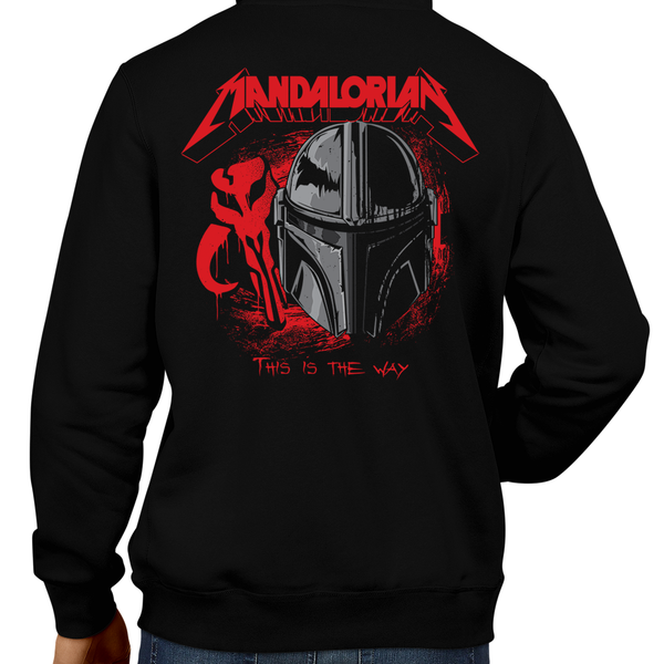 This unisex hoodie rocks. Black Hoodie For Men or Women. Sizes S to 5X - Read my lips , mercy is for wimps. Hoody, Jacket, Coat. Winter. Rock, Movie, Film, Sci-Fi, Yoda, Baby Yoda, Bounty Hunter, TV, Mandalorian, Boba Fett, Darth Vader, Princess Leia, Episode, 6, 7, 8, 9, This is the way, Retro 80s, Metallica, Ride the Lightning