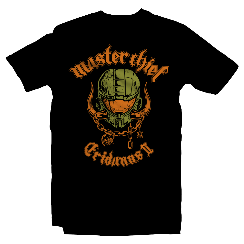 Heavy Metal Tees by Draculabyte l Made from 100% cotton, this unisex t-shirt rocks. Black T-shirt in sizes from small to 6X. Metalheads, Graphic Art, Spartan, Halo 2, 3, Motorhead, Master Chief, Grunts, John 117, Overkill, Halo: Combat Evolved, Final Boss, Bungie Studios, Red VS Blue, Covenant, Arbiter, 343, Cortana, Microsoft Xbox One, Warthog, Infinite