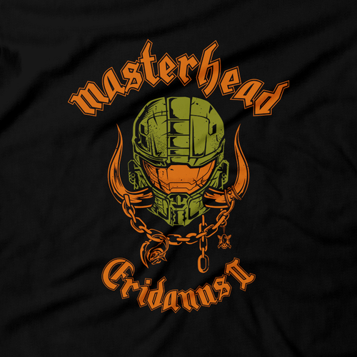 Heavy Metal Tees by Draculabyte l Made from 100% cotton, this unisex t-shirt rocks. Black T-shirt in sizes from small to 6X. Metalheads, Graphic Art, Halo, Spartan, Halo 2, Halo 3, Halo Reach, Motorhead, Master Chief, Grunts, John 117, Overkill, Battle Rifle,  Halo: Combat Evolved, Final Boss, Multiplayer, Red VS Blue, Covenant, Elite, Microsoft Xbox