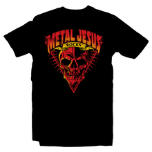 Load image into Gallery viewer, Heavy Metal Tees by Draculabyte l Made from 100% cotton, this unisex t-shirt rocks. Black T-shirt in sizes from small to 6X. Metalheads, Gamer, Rock and Roll, Metal Jesus Rocks, Retro Gamer, Youtube, Top 10, Seattle, Jason, Xbox top 10, Sierra On-Line, Reggie, Kinsey, John Hancock, Music, Skull, Red Skull, Clothes.