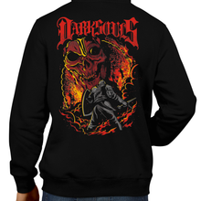 Load image into Gallery viewer, This unisex hoodie rocks. Black Hoodie For Men or Women. Sizes S to 5X - Nintendo, Metalheads, Dark Souls 2, Praise The Sun, Bloodborne, Demon Souls, RPG, Action, Bonfire, PS4, Xbox, Solaire, Geek, Japanese, Retro, Heavy Metal, Dead, Fire, Boss