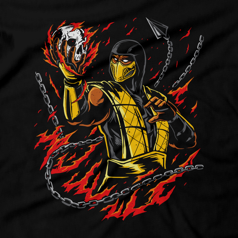 Heavy Metal Tees by Draculabyte l Made from 100% cotton, this unisex t-shirt rocks. Black T-shirt in sizes from small to 6X. Metal, Metalheads, Fighting Game, Finish Him, Arcade, Fighter, Sub Zero, Mortal Kombat 11, MK, Fatality, Blood, SNES, MK2, Raiden, 90s, 1990s, MK11, Skull, Graphic, Scorpion, Movie, Skull, Spine, Head Rip, Ice, MK3, Ninja