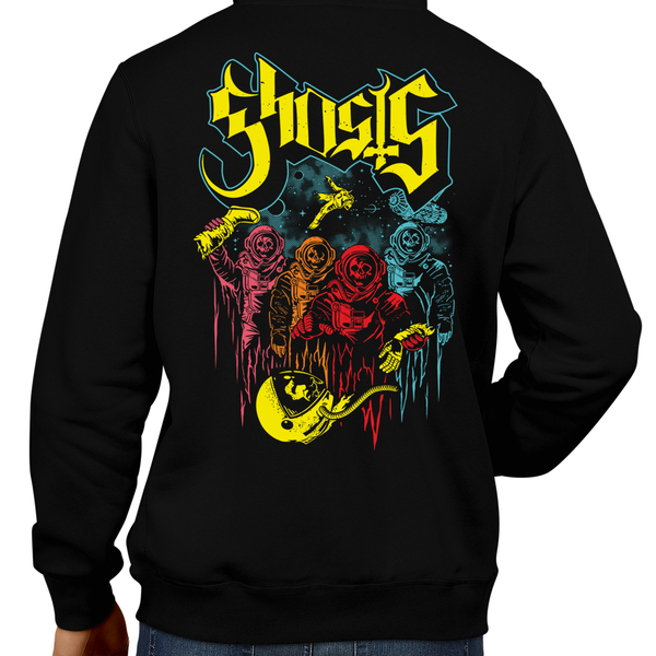 This unisex hoodie rocks. Black Hoodie For Men or Women. Sizes S to 5X - Gamer, Hoody, Winter, Ghosts, Inky, Pinky, Blinky, Clyde, Sci-Fi, Pac-Man, Space, Death, Pacman, Arcade, 80s, 1980s, Astronaut, Nasa, Skull, Skeleton, Ghost Band, Papa Emeritus, Namco, Horror, Video Game, Graphic Art