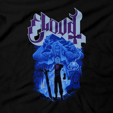 Load image into Gallery viewer, Heavy Metal Tees by Draculabyte l Made from 100% cotton, this unisex t-shirt rocks. Black T-shirt in sizes from small to 6X. Final Fantasy, FF VII, JRPG, Japan, Sephiroth, Videogames, Cloud Strife, Meteor, FF 7, Playstation, Tifa, Shirt, Gamer, PS1, Shop Graphic Art, Best, Vincent, Remake, PS4, PS5, Scorpions, Aerith, Ghost Band