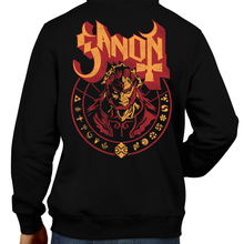 Load image into Gallery viewer, This unisex hoodie rocks. Black Hoodie For Men or Women. Sizes S to 5X - Nintendo, Ocarina of Time, Metalheads, Music, Banger, Retrogaming, Gamer, Hoody, Winter, Ganon, Ganondorf, Horse, Skull, Hyrule, Triforce, Ghost Band, OOT, N64, The Legend of Zelda, TLOZ, Link, Boss, BOTW, Video Game, Shop, Graphic Art.