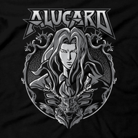 Heavy Metal Tees by Draculabyte l Made from 100% cotton, this unisex t-shirt rocks. Black T-shirt in sizes from small to 6X. Metal, Metalheads, Gamer, Nes, Nintendo, Pixel, 8-Bit, 1980s, Castlevania, Simon Belmont, Vampire Killer, Dracula's Curse, SOTN, Alucard, Skull, Symphony of the Night, Slayer, Vampire Hunter, Graphic Art