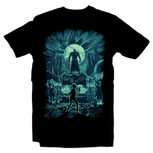 Load image into Gallery viewer, Heavy Metal Tees by Draculabyte l Made from 100% cotton, this unisex t-shirt rocks. Black T-shirt in sizes from small to 6X. Evil, Metalheads, RE, Biohazard, Umbrella, Racoon City, Leon Kennedy, Jill Valentine, Zombie, Resident Evil, 4, 7, 2, Chris Redfield, Survival Horror, T-Virus, Nemesis, Rock and Roll, Fire, Carlos, Resident Evil 3