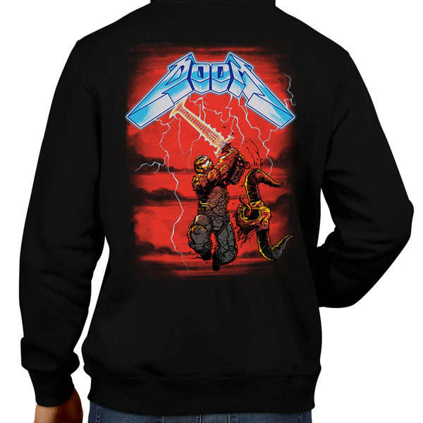 This unisex hoodie rocks. Black Hoodie For Men or Women. Sizes S to 5X - Metalheads, Metal, Demon, Hell, Doom, Doomguy, Hellspawn, Art, Clothes, Shirt, Doom Eternal, Nintendo 64, PS4, PC, DOS, 90s, Doom 2, Doom 64, BFG, metallica, FPS, John Carmack, Shooter, Rip and Tear, Cacodemon, Cyberdemon, 1993