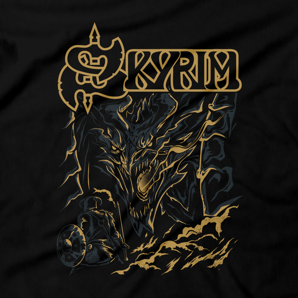 Heavy Metal Tees by Draculabyte l Made from 100% cotton, this unisex t-shirt rocks. Black T-shirt in sizes from small to 6X. Metalheads, Rpg, Open World, Elder Scrolls, Skyrim, Dragon, Dragons, Aela the Huntress, Alduin, Hunter,  Final Boss, Metalheads, Eredin, Dungeon, shirt, gift, Graphic Art